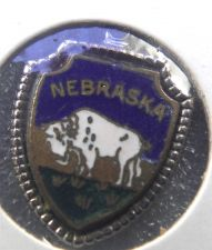 Buy NEBRASKA Enamel & Silver Travel Shield Souvenir Charm