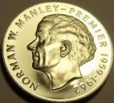 Buy Rare Silver Proof Jamaica 1975 $5~Norman Manley~16,000 Minted~Free Shipping