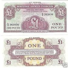 Buy BRITISH ARM FORCES 1 POUND NOTE 4TH SERIES UNC~FR/SHIP~
