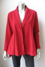 Buy For The Republic NEW Red Funnel Coat Free Front Open Long Sleeves Coat Blazer S