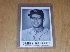 Buy VINTAGE DANNY MCDEVITT DODGERS 1960 SPORTS NOVELTY BASEBALL #50 GD-VG