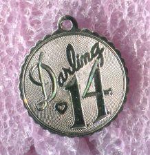 Buy Vintage 14th Birthday Charm : Darling 14 Sterling 925 Silver