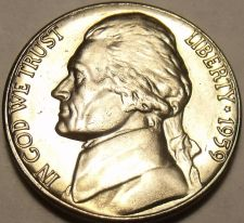 Buy United States Gem Unc 1959-D Jefferson Nickel~Excellent~Free Shipping