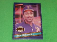 Buy RETRO Dan Driessen Giants 1986 Leaf Baseball GD-VG