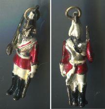 Buy Vintage Enamel Charm : Queen's Guard / Life Guards Regiment Officer