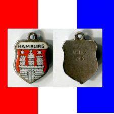 Buy Hamburg Germany Enamel & Silver Travel Shield Souvenir Charm