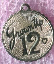 Buy Vintage 12th Birthday Charm : Grown Up 12 - Sterling 925 Silver