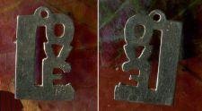Buy vintage STERLING 925 SILVER 60'S LOVE CHARM