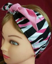 Buy Headband hair wraptie bandana stripes self tie hand made 100% cotton