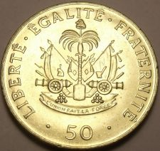 Buy Gem Unc Haiti 1991 50 Centimes~Charlemagne Peralte National Hero~Free Shipping