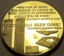 Buy Large 24k Gold Plated Proof Medallion~Justice Has Been Done~Twin Towers 9-11~F/S
