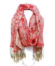 "Buy Pashmina Silk Blend Tapestry Paisley Fringed Shawl Wrap Scarfs 70""X 26"""