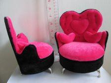 Buy Pink Velvet Seat Heart Pillows Sofa for Child Angel Doll,PHICEN Seamless Figure