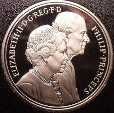Buy Gem Cameo Proof Great Britain 1997 5 Pounds~Phillip & Elizabeth II Wedding~Fr/Sh