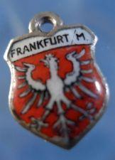 Buy FRANKFURT GERMANY Enamel & 800 Silver Travel Shield Souvenir Charm
