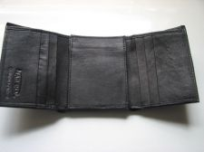 Buy Genuine Leather Marshal Men's Trifold Wallet - Black