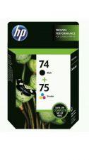 Buy 74 & 75 HP black color ink PhotoSmart D5360 D5345 C5580 C5550 C5540 C5280 C5250