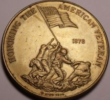 Buy Massive 1978 Honoring The American Veteran Medallion~Preserving Freedom~Free Shi