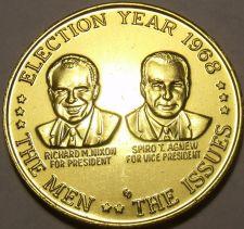 Buy Massive Unc Rare 1968 Richard Nixon-Spiro T. Agnew Campaign Medallion~Free Ship