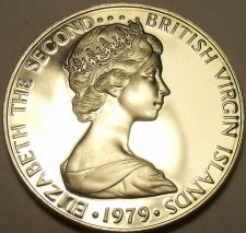 Buy Rare Proof British Virgin Islands 1979 25 Cents~Mangrove Cuckoo~5,304 Minted~F/S