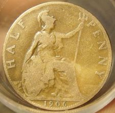 Buy FULL ROLL(20) CIRCULATED OLD GREAT BRITAIN HALF PENNYS~1902-1919~FREE SHIPPING~