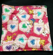 Buy 100% quilted Cotton Pot Holder Farm animals cow pig dog cat design hand made