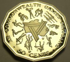 Buy Cameo Proof Australia 1982 50 Cents~Commonwealth Games~100,000 Minted~Free Ship