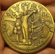 Buy Huge 60mm Solid Bronze Las Vegas The Strip Medallion~Awesome Details~Heavy~Fr/Sh