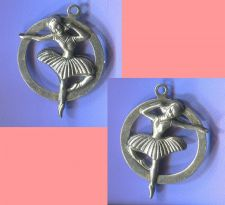 Buy vintage 2 SIDED BALLERINA CHARM : STERLING 925 SILVER
