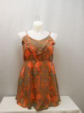Buy SIZE XL Womens Camisole Tank Top ITS PINK Orange Paisley Spaghetti Straps Pullov
