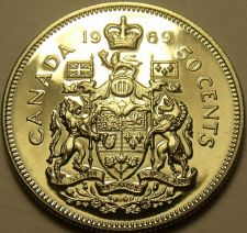 Buy Proof Canada 1969 50 Cents~Proof Coins Are The Mints Best Work~Free Shipping