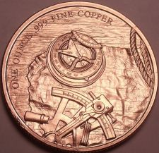 Buy Gem Unc .999 Solid Copper 1 Ounce Prospector Medallion~Excellent~Free Shipping