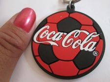 Buy COCA COLA COKE Silicone Rubber Football Keychain D RING Soccer SOUVENIR GIFT Ad