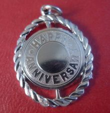 Buy Sterling Silver Happy Anniversary Charm - New Old Stock