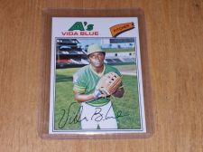 Buy VINTAGE VIDA BLUE A's 1977 TOPPS BASEBALL #230 GD-VG