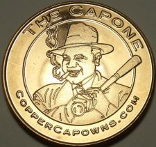 Buy Unc .999 Pure Copper 1 Ounce Round~Al Cappone With a Cigar And a Bat~Free Ship