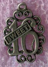Buy vintage Sterling Filigree Birthday Charm : Sweet 16 by SMC