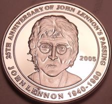 Buy Cameo Proof Cook Islands Commemorative Silver Medallion~John Lennons Passing~F/S