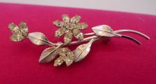 Buy VINTAGE STERLING 925 SILVER & RHINESTONE BROOCH BY D'OR