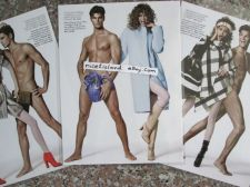 Buy Man NUDE Naked Sexy Pin Up Photo,MARC JACOBS Print Ad 3 Posters 8 x11 Waterproof