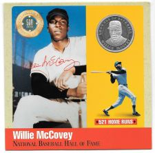 Buy Rare .999 Silver Proof Willie McCovey 500 Club Cooperstown Commemorative~Free Sh