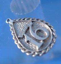 Buy Vintage Birthday Charm : 'F' Sterling Sweet Sixteen 16