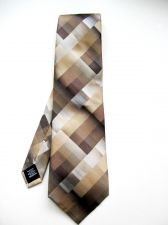 Buy A0475 Van Heusen NEW Men's 100% Silk Brown Geometric Pattern Classic Neck Tie PR