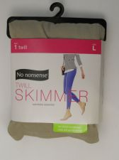 Buy SIZE L 12 14 Womens Twill Skimmer Leggings NO NONSENSE Solid Quarry Ankle Slit