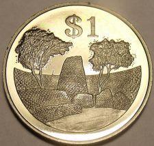 Buy Rare Proof Zimbabwe 1980 Dollar~The Zimbabwe Ruins~15,000 Minted~Free Shipping