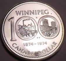Buy Silver Proof Canada 1974 Winnipeg Dollar~100th Annversary~Free Shipping
