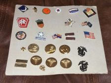 Buy Vintage lot of 27 u.s. military Armed Forces signia lapel pins Rare