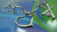 Buy Sterling 925 Silver 3 Charm 6.5 Inch Starter Bracelet DESIGNER QUALITY