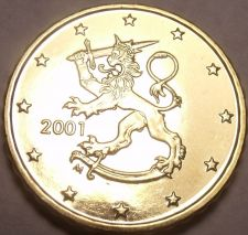 Buy Gem BU Finland 2001 10 Euro Cents~Standing Lion~We Have Finland Coins~Free Ship