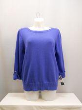 Buy Karen Scott Persian Blue 3/4 Sleeves Boat Neck Medium Knit Sweater Size 2X